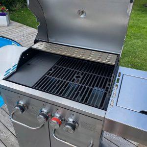 Bluegaz Z6 grillhuv med grillgaller och stekplatta i gjutjärn