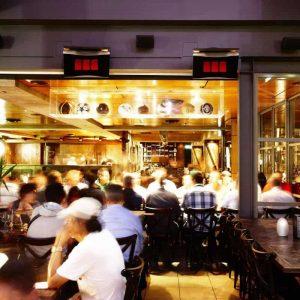 Bromic Värmare Platinum Gas 300 på restaurang