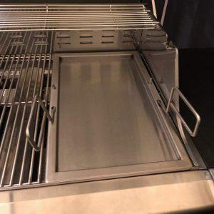 Bluegaz Z1, Z1-NG & Z2 Plancha Rostfritt Stål placerad inuti grill
