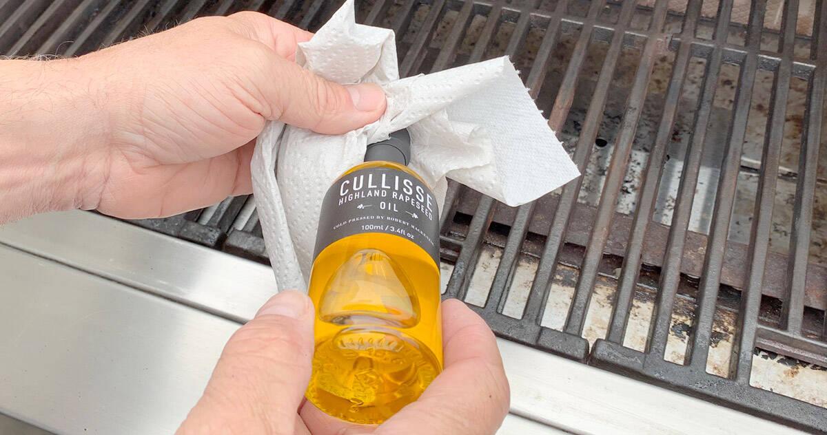 Grillgaller oljas in
