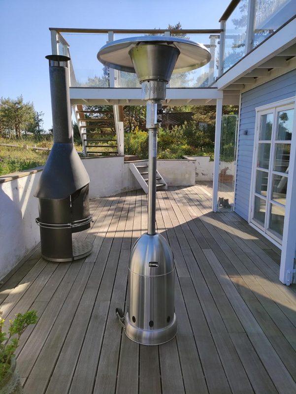 Bluegaz Bullet Terrassvärmare på terrass
