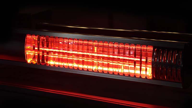 Närbild på infraröd värmare